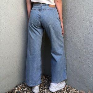 [vintage] Levi's 574 wide leg light wash jeans